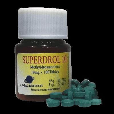 Superdrol [Methasterone 10mg] - 100 Tabs - Global Anabolic