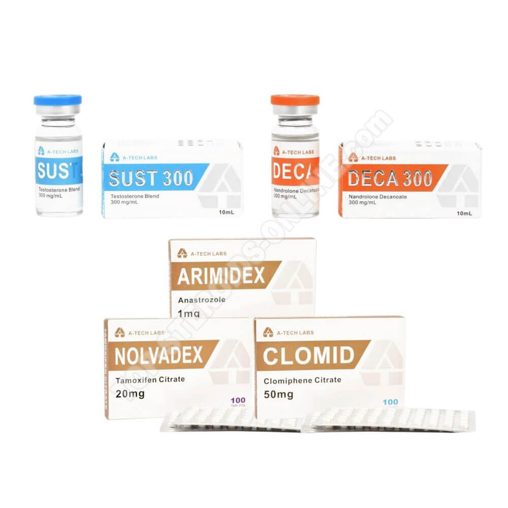 PACK MASS LEVEL I (INJECT) A-TECH LABS - SUSTA + DECA + PCT (8 WEEKS)