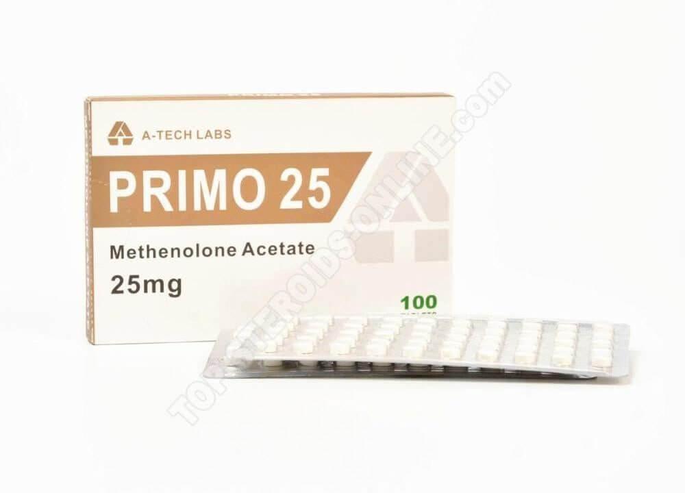 PRIMO 25 (Primobolan Acetate) - A-Tech Labs - 25mg - Box Of 100 Tabs