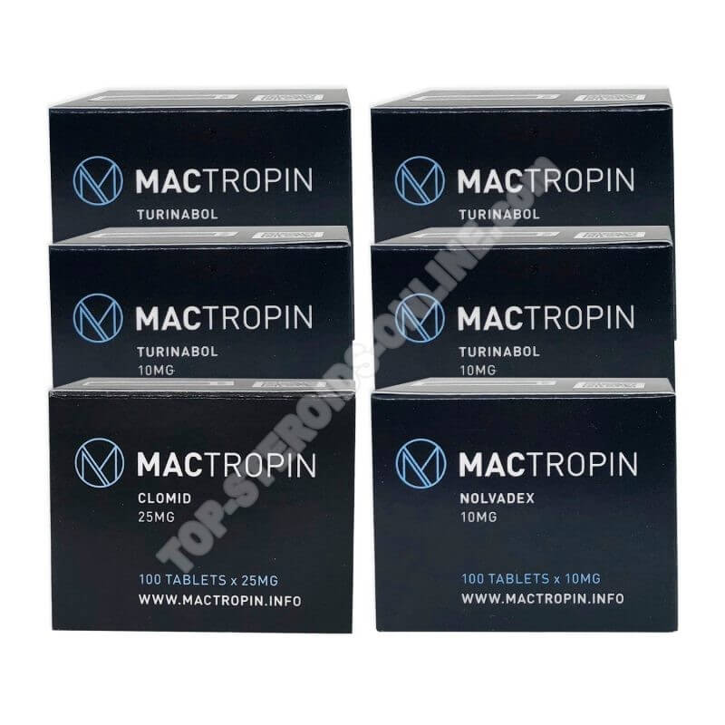 LEAN MUSCLE LEVEL III PACK (ORAL) - TURINABOL + PROTECTION + PCT (8 WEEKS) Mactropin