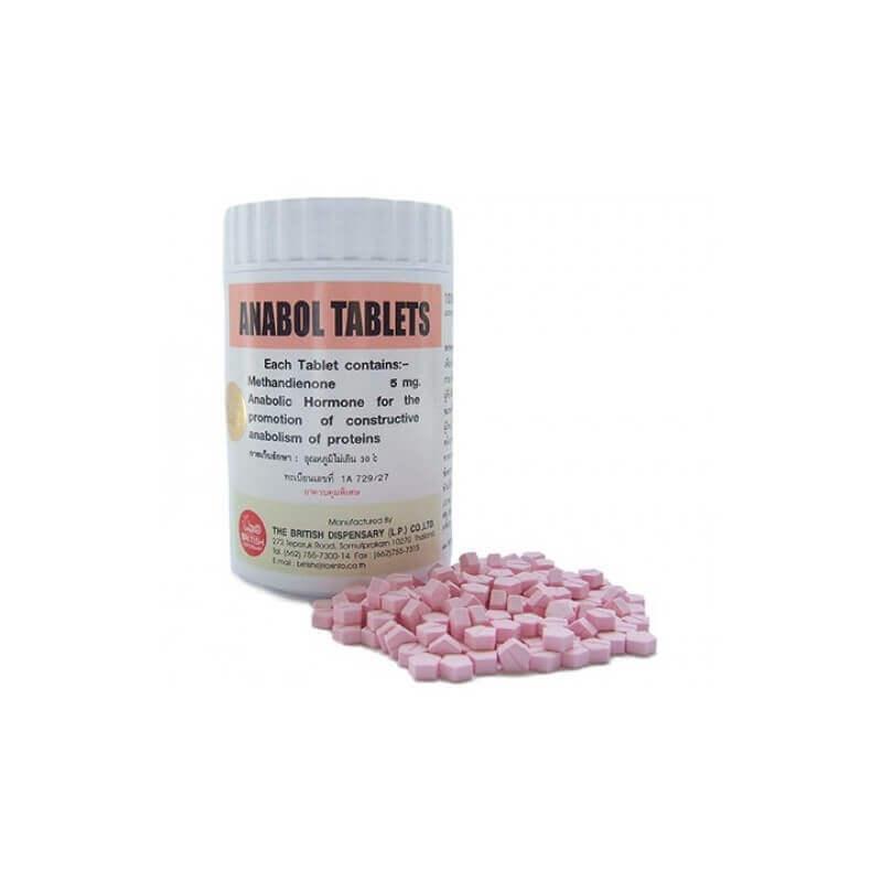 Anabol 5mg - Methandienone 5mg 1000 Tablets / Bottle - The British Dispensary