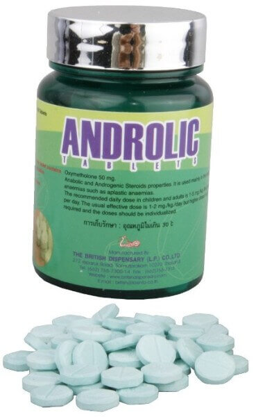 Androlic – Oxymetholone 50mg 100 Tablets / Bottle – The British Dispensary