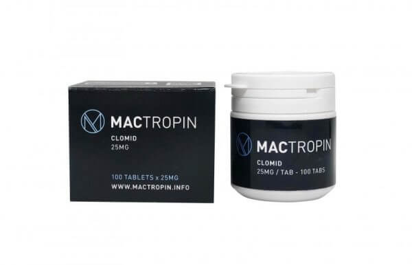 Clomid 25mg 100 Tabs – Mactropin