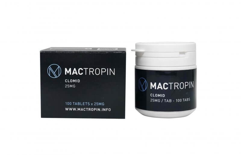 Clomid 25mg 100 Tabs - Mactropin