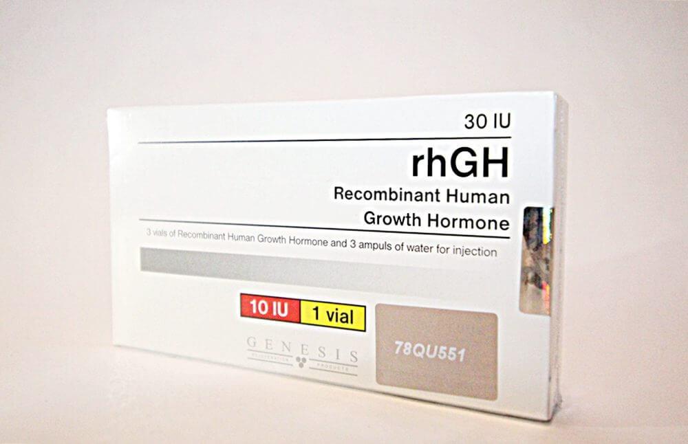 rhGH Genesis 3 vials + 3 amps solvent [3x10IU]
