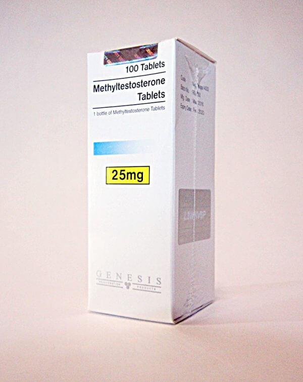 Methyltestosterone Tablets Genesis 100 tabs [25mg/tab]