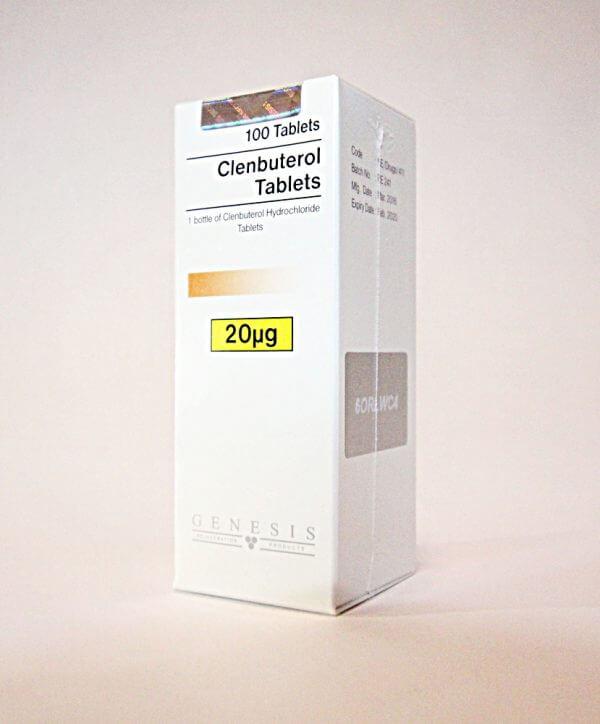 Clenbuterol Tablets Genesis 100 tabs [0,02mg/tab]