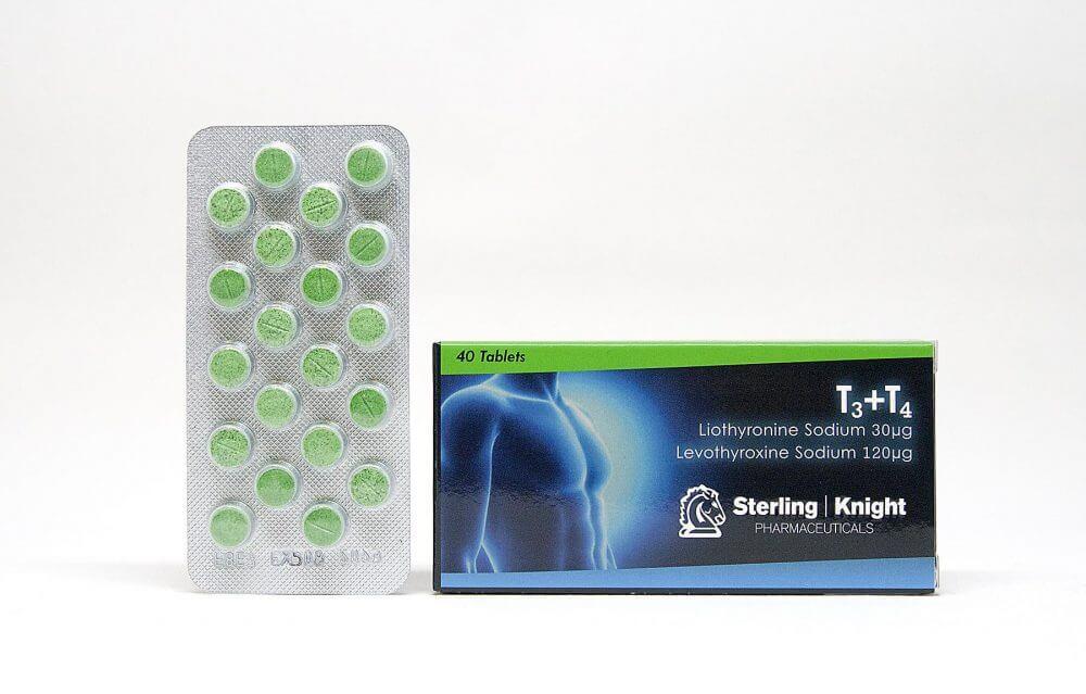 T3+T4 Sterling Knight 40 tabs [30+120mcg/tab]