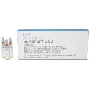 Sustanon 250 England Organon 1 amps [1x250mg/1ml]
