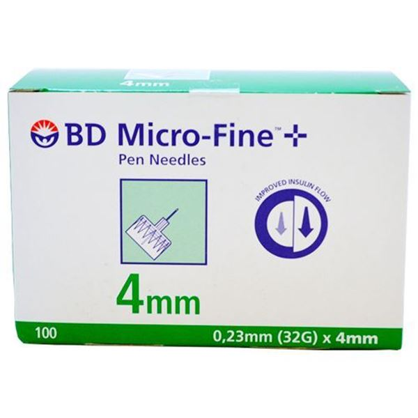 0000131 Bd Microfine Plus Ultra Pen Needles 4mm 100 600